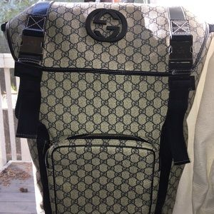 Gucci monogram canvas supreme interlocking bakpack